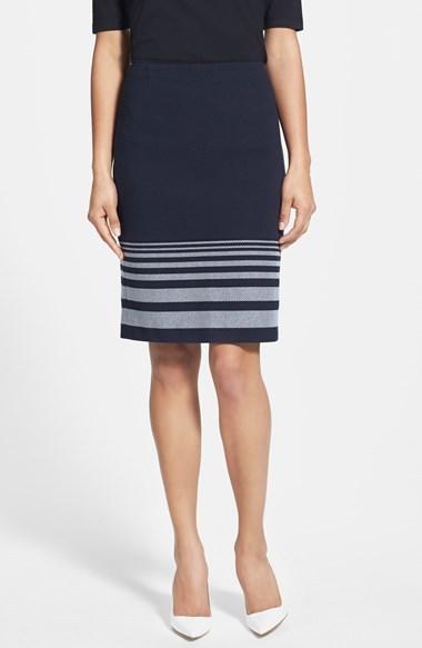 HUGO BOSS BOSS 'Valyn' Stripe Skirt