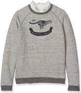 Scotch & Soda R'Belle Girl's Vintage Inspired Sweat With Woven Broderie Detailing Sweatshirt
