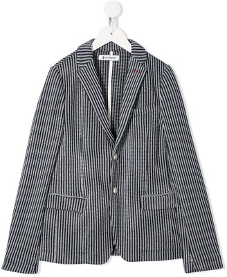 Dondup Kids Knitted Single Breasted Blazer
