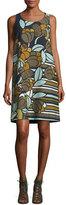 Lafayette 148 New York Sleeveless Floral-Print Cloqué Shift Dress, Multi