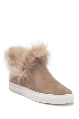 Rachel Zoe Brooklyn Suede Genuine Sheep Fur Sneaker