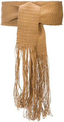 Voz Fringed Waist-Tied Belt