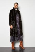 Faux Fur Midi Length Coat