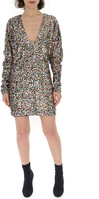 ATTICO Sequins V-Neck Dress