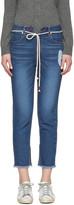 Sjyp Indigo Cut-off String Jeans