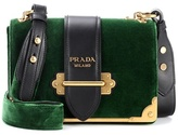 Prada Cahier velvet shoulder bag