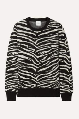 Madeleine Thompson Doc Zebra-intarsia Wool And Cashmere-blend Sweater - Zebra print