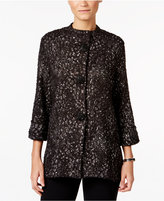 JM Collection Petite Three-Quarter-Sleeve Bouclé Jacket, Only at Macy's
