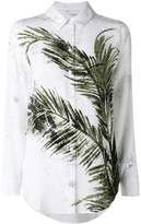Equipment printed leaf shirt