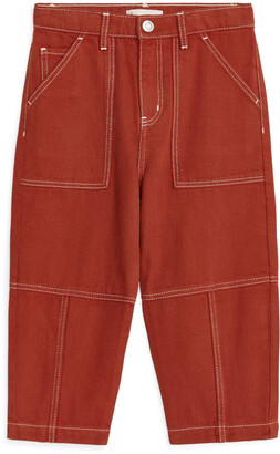 Arket Cropped Workwear Trousers