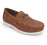 Jelly Beans Tan Metallic-Accent Mark Loafer