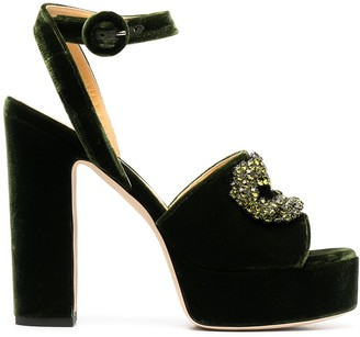 Giannico Embellished Platform Sandals