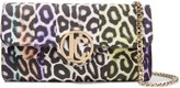 Just Cavalli Printed faux leather shoulder bag