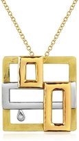 Torrini Cubisme Diamond 18K Gold Pendant Necklace