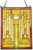 "Chloé Lighting Lighting LUNDEN Mission Tiffany-glass Window Panel 24"" Tall"