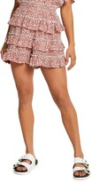 Thumbnail for your product : River Island Floral Print Ruffle Shorts