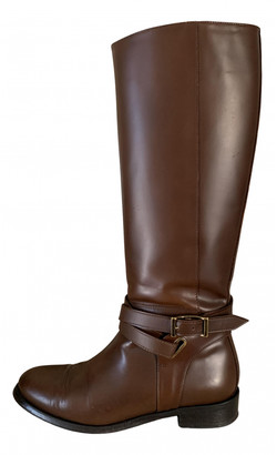 Burberry Brown Leather Boots