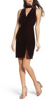 Adelyn Rae Women's Elle Velvet Choker Sheath Dress
