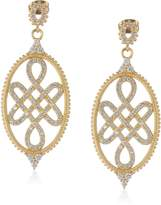 Freida Rothman GRAMERCY 14k -Plated Love Knot Drop Earrings