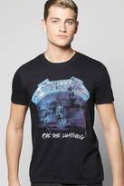 Boohoo Metallica Lightening License T-Shirt