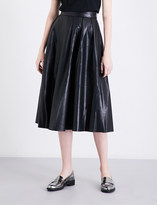 Mo&Co. Eco faux-leather skirt