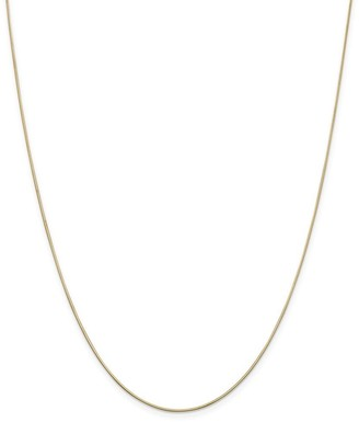 Curata 14k Yellow Gold Solid 0.8mm Diamond-cut Octagonal Snake Chain Necklace