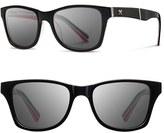 Shwood Women's 'Canby - Pendleton' 54Mm Polarized Sunglasses - Black/ Turquoise/ Grey Polar
