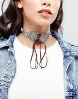 Asos Festival Lace Up Choker Necklace