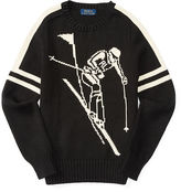 Ralph Lauren Intarsia Cotton-Linen Sweater