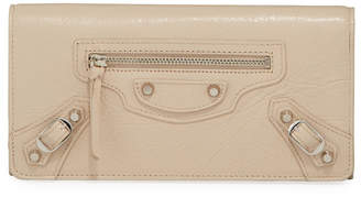 Balenciaga Classic Flap-Top Leather Wallet