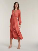 Forever New Eloise Long-Sleeve Tiered Midi Dress - Summer Melon - 10