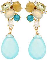 Indulgems Mixed-Gemstone Cluster Drop Earrings, Multi