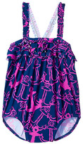 Hatley Anchors Ruffle One-Piece Swimsuit (Infant)