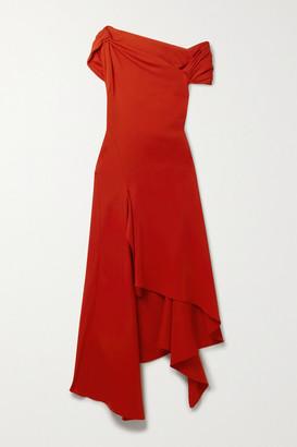 Monse Asymmetric Cutout Crepe Dress - Red