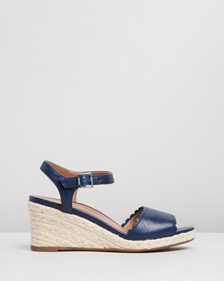 Vionic Women's Navy Sandals - Stephany Wedges - Size One Size, 5 at The Iconic