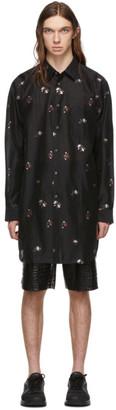 Comme des Garcons Black Wool Flower Shirt