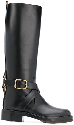 Chloé Wraparound Strap Knee-High Boots