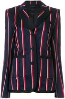 Rokh striped single breasted blazer