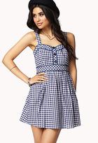 Forever 21 Gingham Plaid A-Line Dress