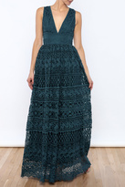 L'atiste Lace Brocade Gown