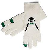 Cashmere Penguin Intarsia Gloves