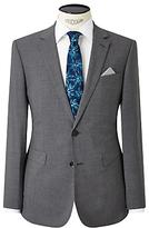 John Lewis Textured Super 100s Wool Travel Suit Jacket, Light Grey