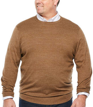 THE FOUNDRY SUPPLY CO. The Foundry Big & Tall Supply Co. - Big and Tall Crew Neck Long Sleeve Pullover Sweater