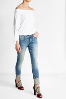 True Religion Cropped Skinny Boyfriend Jeans