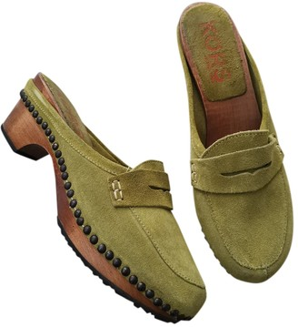 Michael Kors Green Suede Mules & Clogs