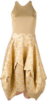 Antonio Berardi embroidered flared dress - women - Polyester/Rayon - 46