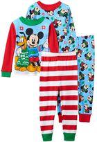Disney Disney's Mickey Mouse Toddler Boy 4-pc. Holiday Tee & Pants Pajama Set