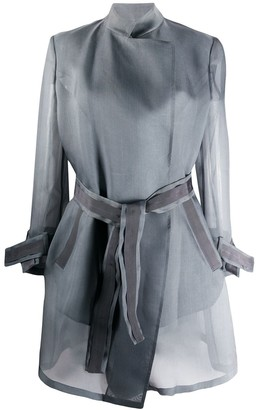 Giorgio Armani Sheer Trench Coat