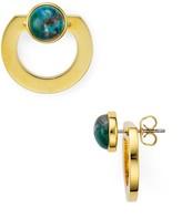 Vita Fede Moneta Open Stone Front-Back Earrings