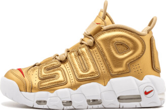 Nike More Uptempo 'Supreme - Suptempo Gold' Shoes - Size 9.5